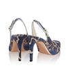 Pantofi Eleganti Dama Candy Snake Skin Blue F3