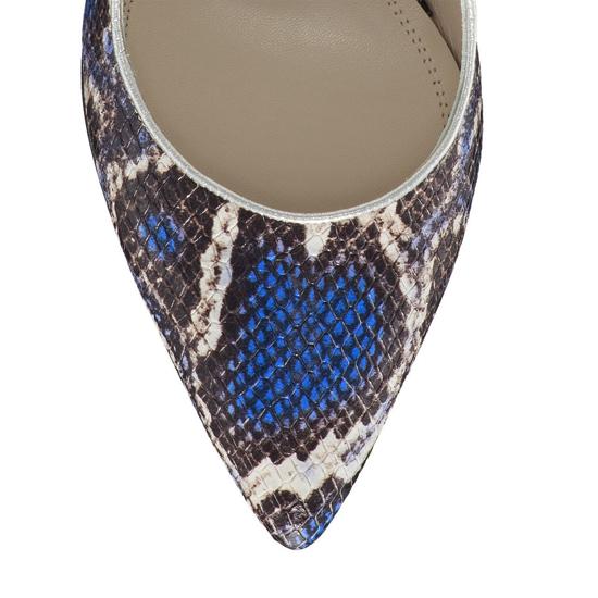 Pantofi Eleganti Dama Candy Snake Skin Blue F5