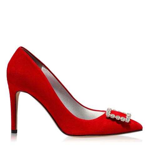Pantofi Eleganti Dama Anne Rosu F1
