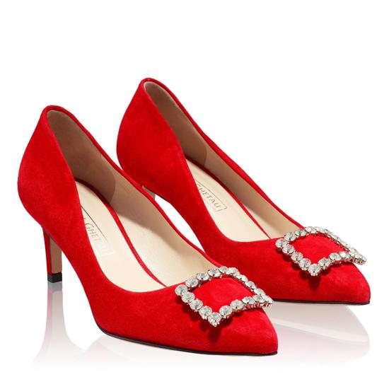 Pantofi Eleganti Dama Anne Rosu 02 F2
