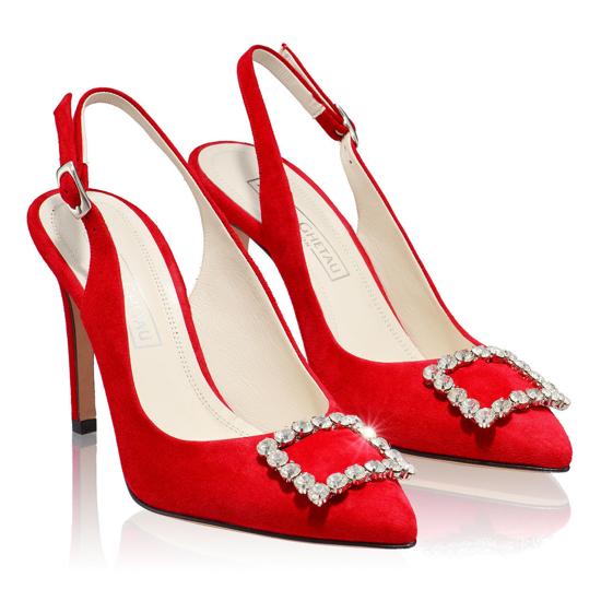 Pantofi Eleganti Dama Candy Rosu 02 F2