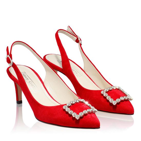 Pantofi Eleganti Dama Candy Rosu 03 F2