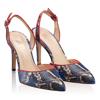 Pantofi Decupati Ela Snake Skin Blue F2
