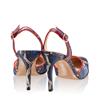 Pantofi Decupati Ela Snake Skin Blue F3