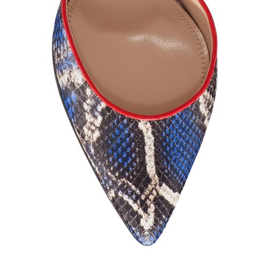 Pantofi Decupati Ela Snake Skin Blue F5
